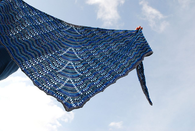 Northmavine knitted by Clare Divine pattern from Kate Davis, Copyright by Clare Divine